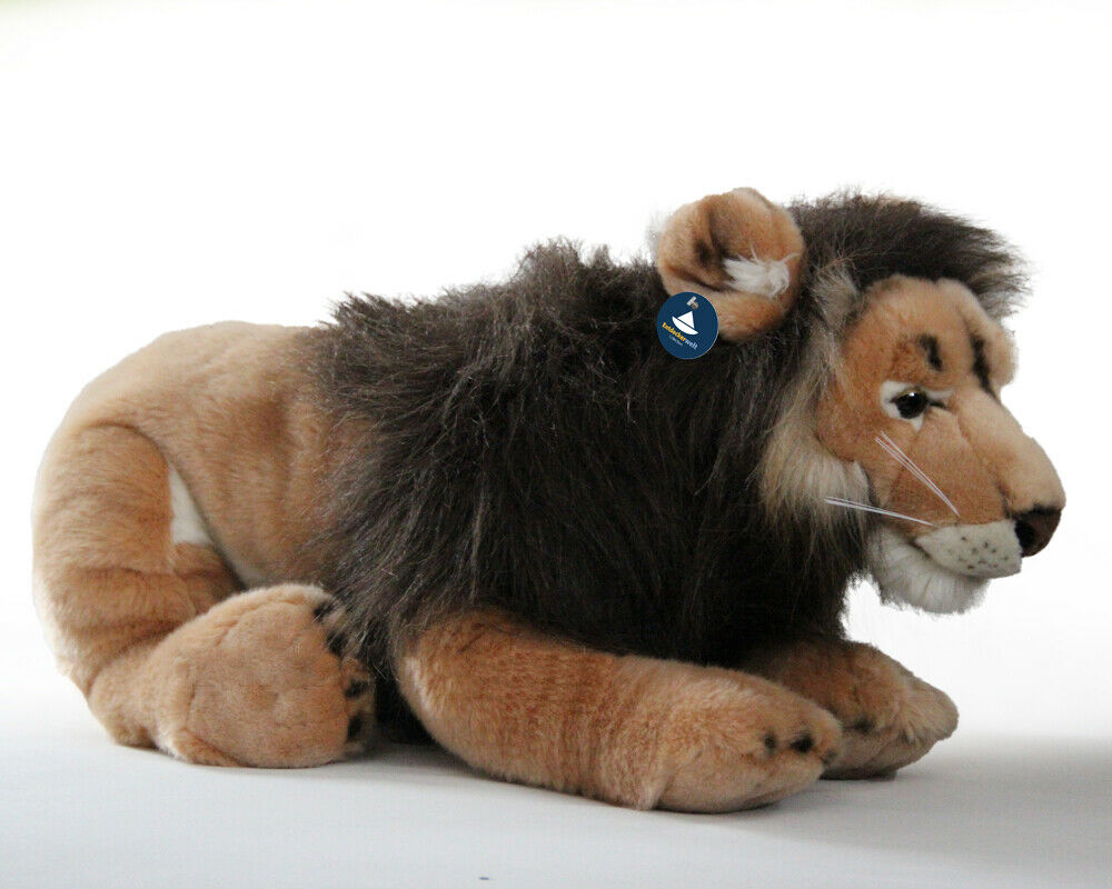 Stofftier liegender Löwe XXL, Kuscheltier, Plüschtier (Länge ohne Schwanz 70 cm)