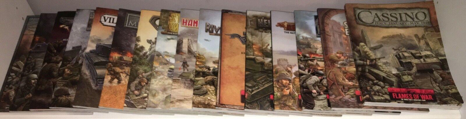 Flames of War 16 Intelligence Handbooks + The Art of War, Battlefront Miniatures