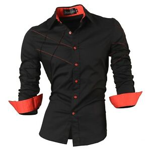 jeansian-Men-039-s-Slim-Fit-Fashion-Casual-Dress-Shirts-Hombre-Camisa-Clothing-Z036a