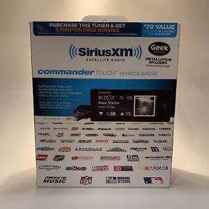 Touchscreen Dash-Mounted Radio SiriusXM Commander Touch Full-Color