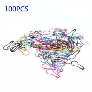 100-Pieces-Artisanat-Point-Broche-Aiguille-Clip-Tricotage-Metal-Marqueurs-Verrou