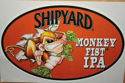 "SHIPYARD BREWING CO /""pumpkinhead/"" Beer STICKER Decal Craft Brewery"