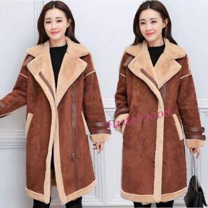 Manteaux longues d'hiver et femmes vestes synthétique daim Parka pour pardessus en minces 88HrFxT