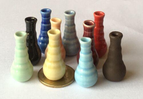Échelle 1:12 Couleur Motif Céramique Vase tumdee Maison De Poupées Fleur Accessoire MuLV
