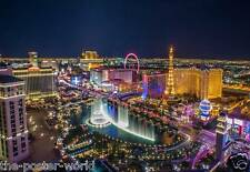 Las Vegas Skyline Night View Picture Poster Home Art Print / Wall Decor New C4