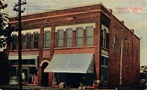 Postcard-Masonic-Temple-in-Marion-Alabama-128951