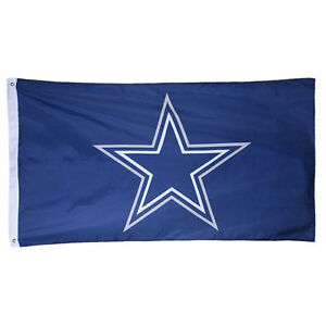 Dallas-Cowboys-Authentic-Team-Flag-3x5-Indoor-Outdoor-3-034-x5-034-Banner-Hologram