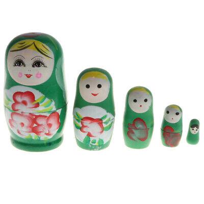 5pcs Little Girl Pattern Russian Nesting Doll Matryoshka Stacking Dolls Gift
