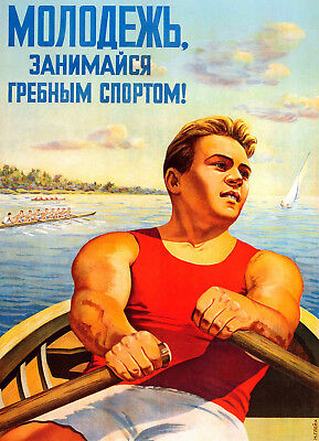 8081.Decoration Poster.Home wall art design.Room Decor.Russian Rowing.Sailing