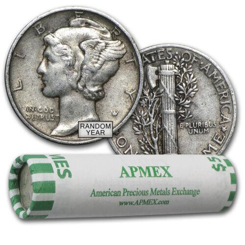 SKU #44583 90/% Silver Mercury Dime 50-Coin Roll XF