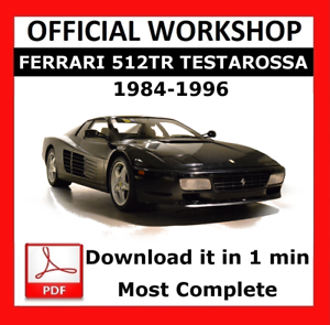 />/> OFFICIAL WORKSHOP Manual Service Repair Ferrari 512TR 1984-1996