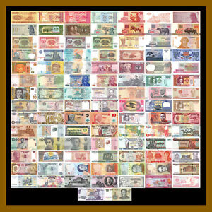 100-Pcs-of-Different-World-Mix-Mixed-Foreign-Banknotes-Currency-Lot-Unc