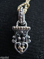 Barbara Bixby Lock Charm Pendant Ss 18k Couture Gift Designer