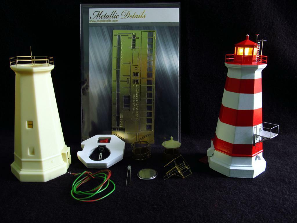 Metalliska detaljer MDR 14413 'Lighthus modell of Brier Island 1 144 scale kit