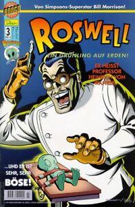 Bande Dessinée Roswell-cahier 3 Mars 01-un Grünling Sur Terre!!! Il S'appelle Professeur...-afficher Le Titre D'origine