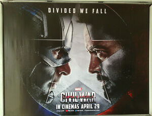 Cinema Poster Captain America Civil War 2016 Advance Quad Chris Evans Ebay