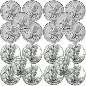 Lot of 10 - 2021 American Eagle Coins 1 oz .999 Fine Silver BU Type 2 - IN STOCK