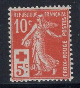 France-1914-Yv-147-Neuf-100-10-c-Croix-Rouge