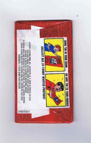 Wanted Posters Topps Chewing Gum Inc Trading Cards 1967 Vintage 5¢ Wax pack