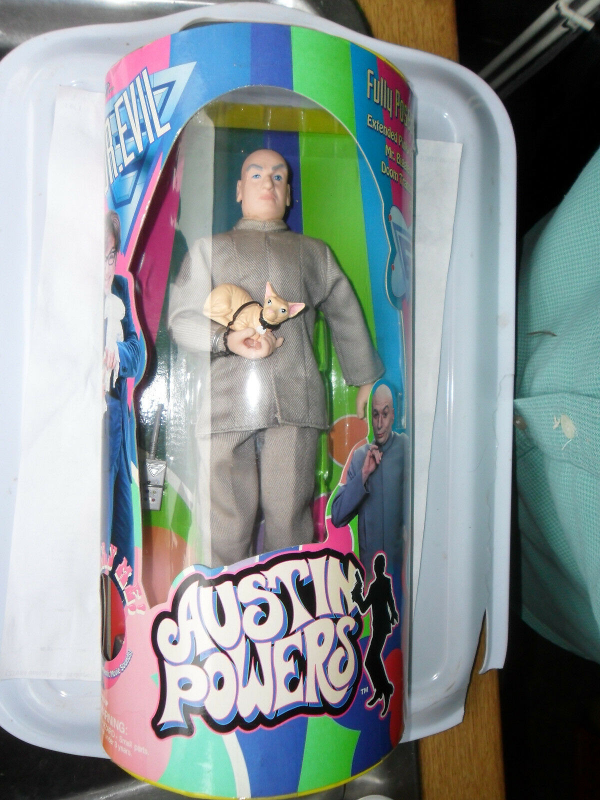 AUSTIN POWERS DR EVIL EVIL EVIL TALKING ACTION FIGURE 9 INCH TRENDMASTERS MR BIGGLESWORTH cbecf0