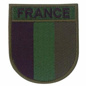 Ecusson-brode-Armee-Francaise-basse-visibilite-vert-France