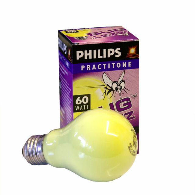 2 ampoules á incandesence 60w E27 Philips anti-insectes