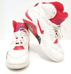 best website 33d2e 83266 Image is loading Nike-Air-Force-180-Mid-White-Red-Barkley-