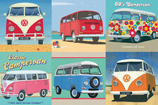 GIBSONS THE OFFICIAL VW CAMPERVAN 500 PIECE JIGSAW PUZZLE WITH TIN G3801