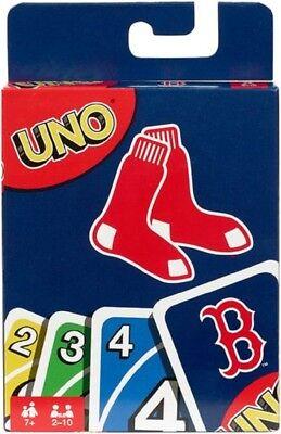 Major League Baseball Boston Red Sox Game Play Fun Family Playing Uno