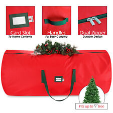 Christmas Tree Storage Bag Heavy Duty 600D Polyester Up to 9ft Disassemble Tree