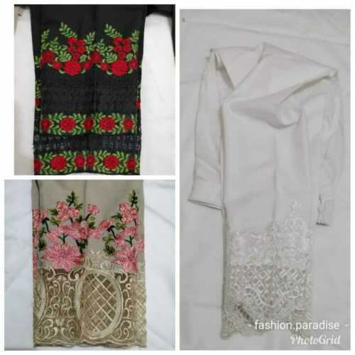 INDIAN Ladies Embroidered Trousers Straight Pants Designer Style PAKISTANI