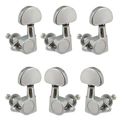 replacement acoustic electric guitar string tuning peg tuners 3r3l chrome ebay. Black Bedroom Furniture Sets. Home Design Ideas