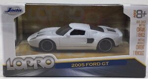 Image Is Loading Jada Toys  Ford Gt Lopro White Scale