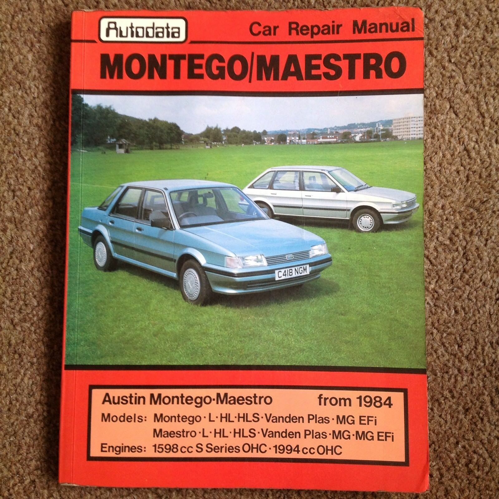 Auto data Austin Montego / Maestro from 1984 Car Repair Manual Lots of  Models | eBay