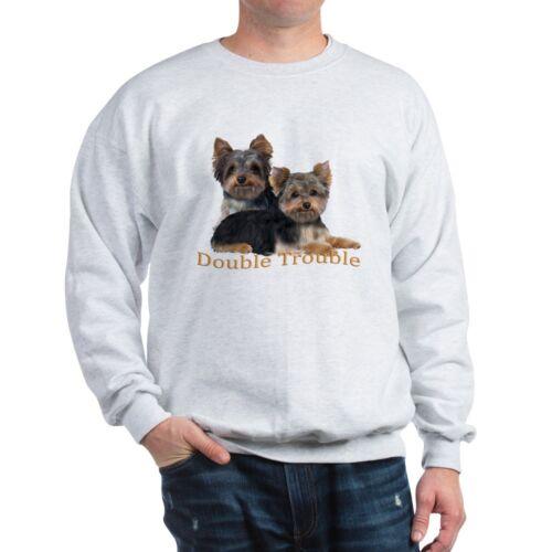 Yorkie Double Trouble Classic Crew Neck Sweatshirt CafePress