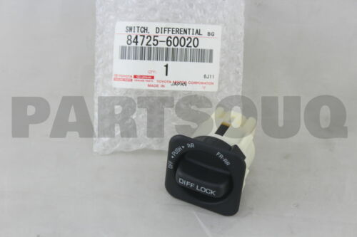 8472560020 Genuine Toyota SWITCH CENTER DIFFERENTIAL LOCK 84725-60020