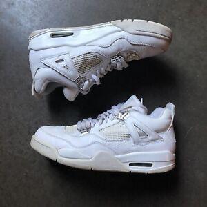 huge selection of 9e94b 08d15 Details about Men's 2006 Jordan Retro IV 4 Pure Money White Metallic Silver  Sz 9.5 308497-102