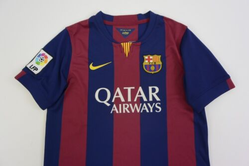 #Nike FC Barcelona 20142015 BARCA Home Shirt Jersey YOUTH 1213y L.Boys 147158