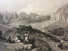 Pétra Reqem Jordanie estampe XIXème