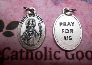 Saint-St-Gertrude-Pray-for-Us-Oxidized-Die-Cast-1-inch-Medal
