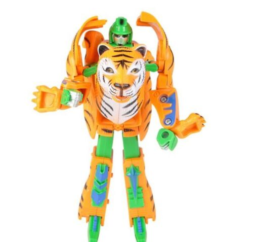 "5/"" TIGER ANIMAL ROBOT FIGURE TRANSFORMERS DISTORTION ROBOTS IN DISGUISE AGE 8+"