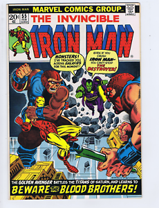 Iron Man # 55 Marvel 1973 Beware the Blood Brothers ! ,1st Appearance Thanos