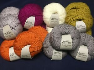 Choose-Your-Colour-100g-Wool-200-Metres-Double-Knit-Knitting-Yarn-Balls-DK