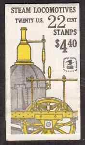 Scott # 2362/6...22 Cent...Locomotives... Booklet of 20 Stamps