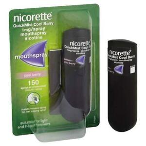 4x Nicorette Quickmist Cool Berry 150 1mg Mouth Spray