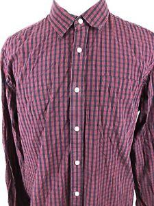 Eddie-Bauer-Mens-TXL-Classic-Fit-Long-Sleeve-Button-Up-Flannel-Shirt-Plaid