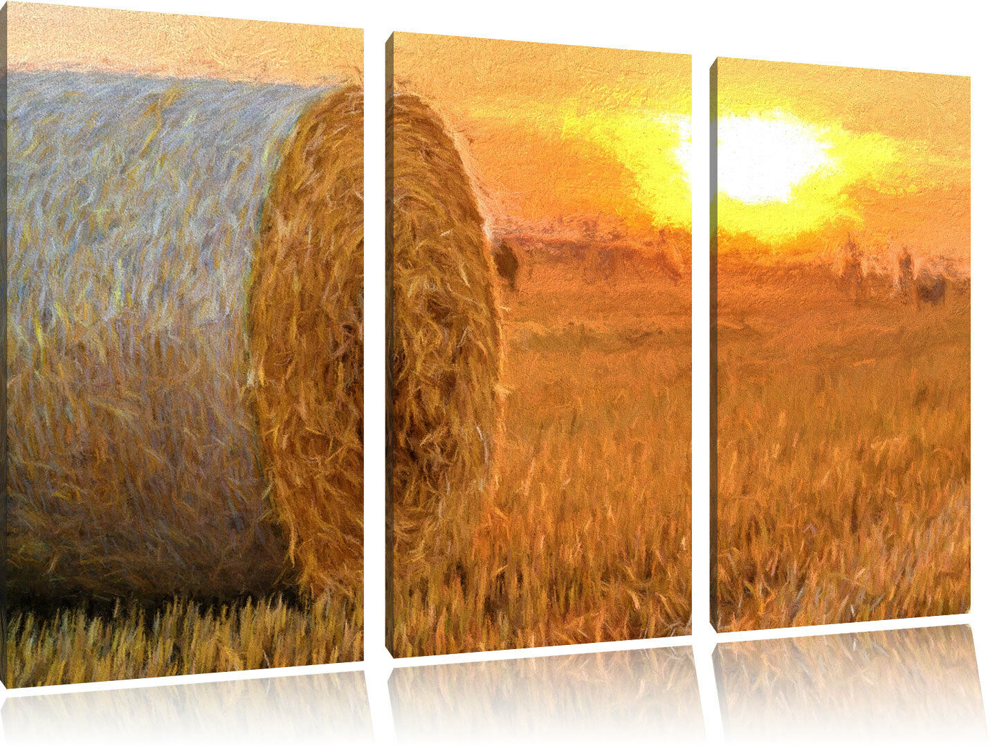 De Paja en el Campo Plumas Coloridas Foto Efecto 3-Teiler Foto Coloridas Lienzo Decoración ec3c67