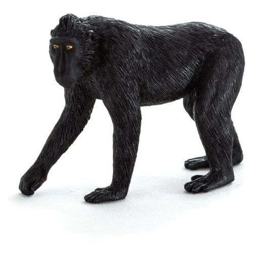 Statuina Animal Planet Scimmia Macaco Nero
