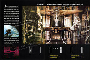 H-R-GIGER-THE-MIRROR-Orig-1987-Trade-AD-unmade-film-promo-poster-Necronomicon