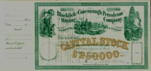 Beautiful 186 The Blacklick Conemaugh Petroleum Co.